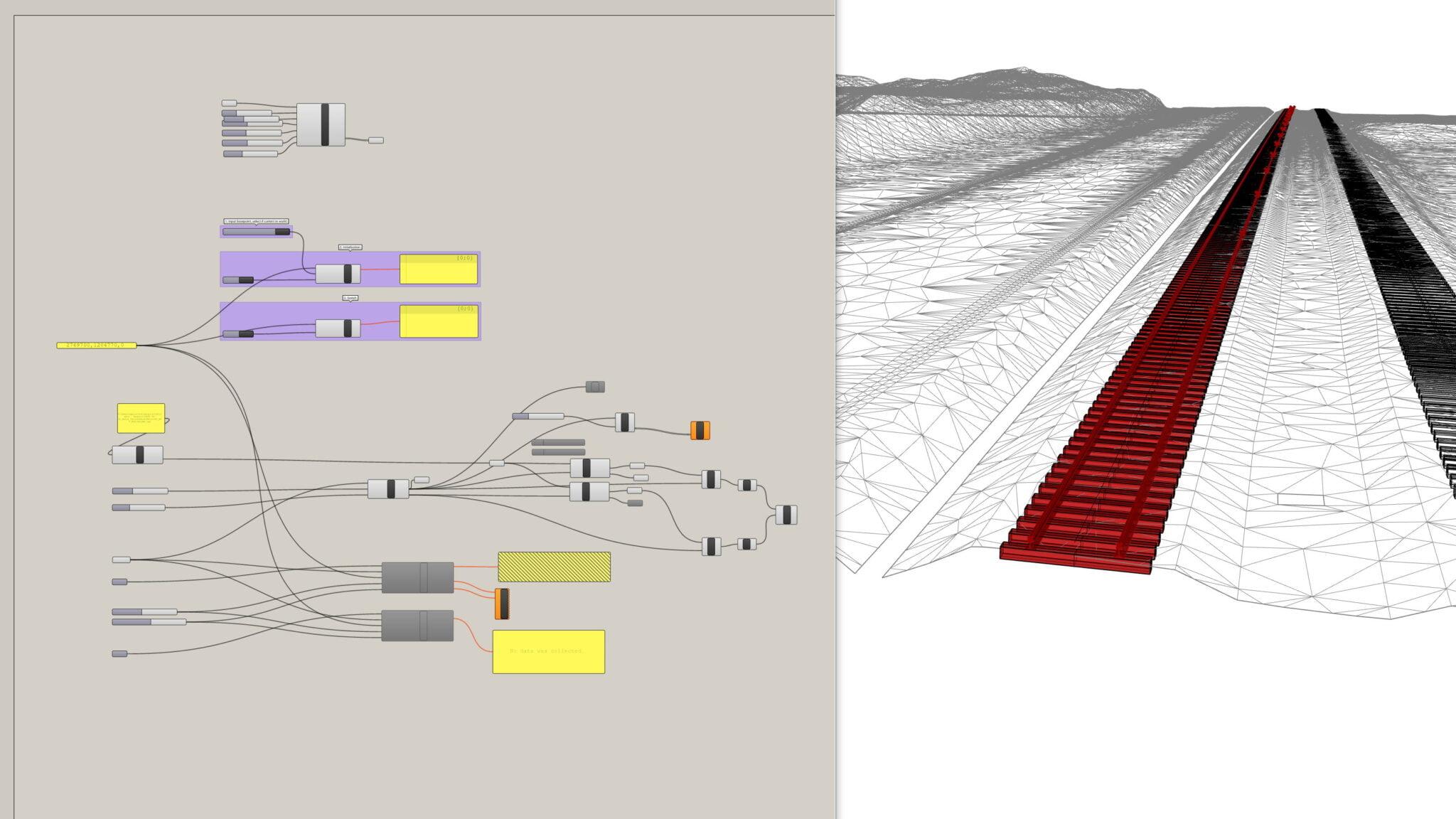 Parametrische 3D-Modellierung der RhB-Schienen und Schwellen