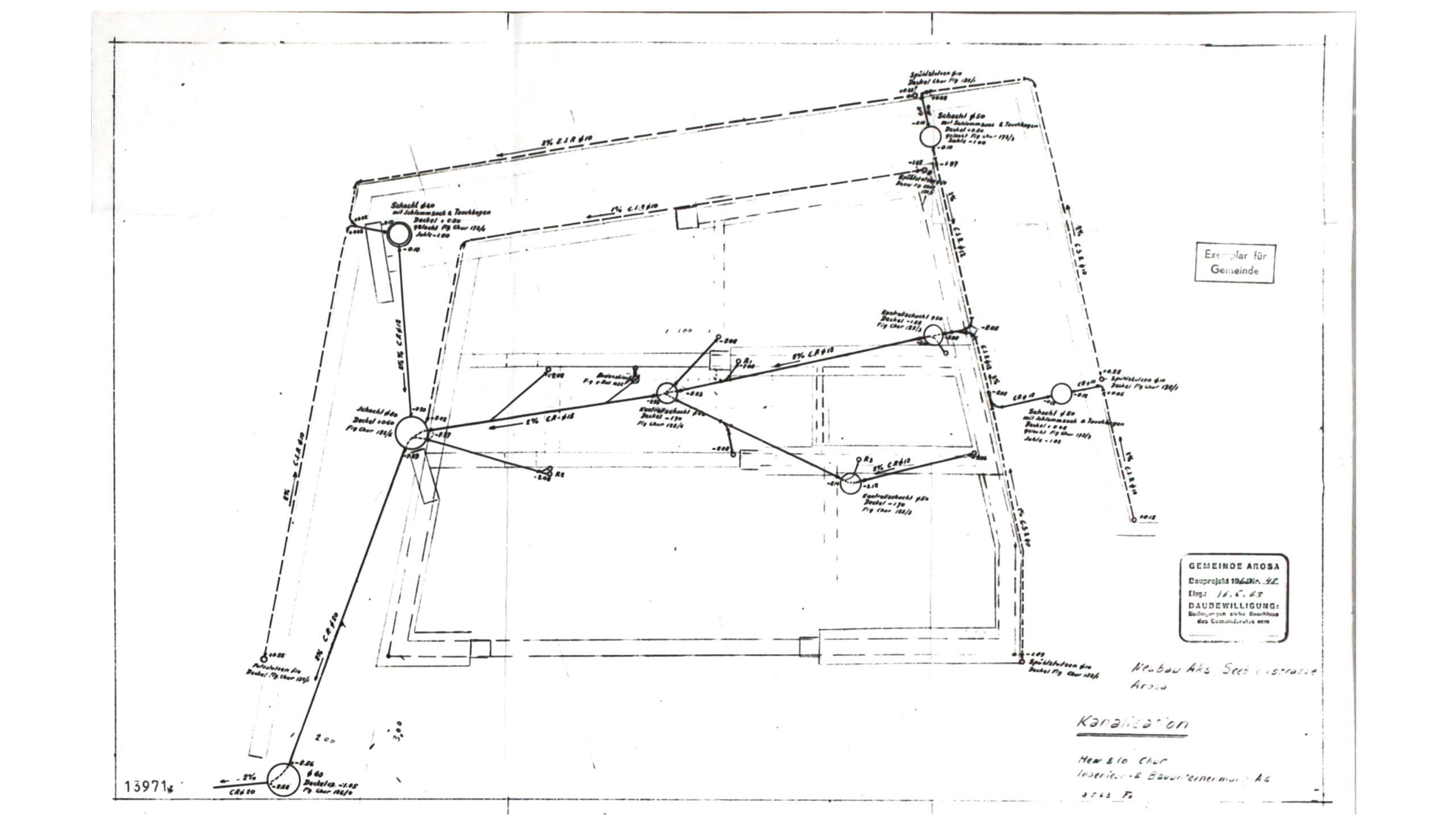 Original-Baupläne aus dem Jahr 1962