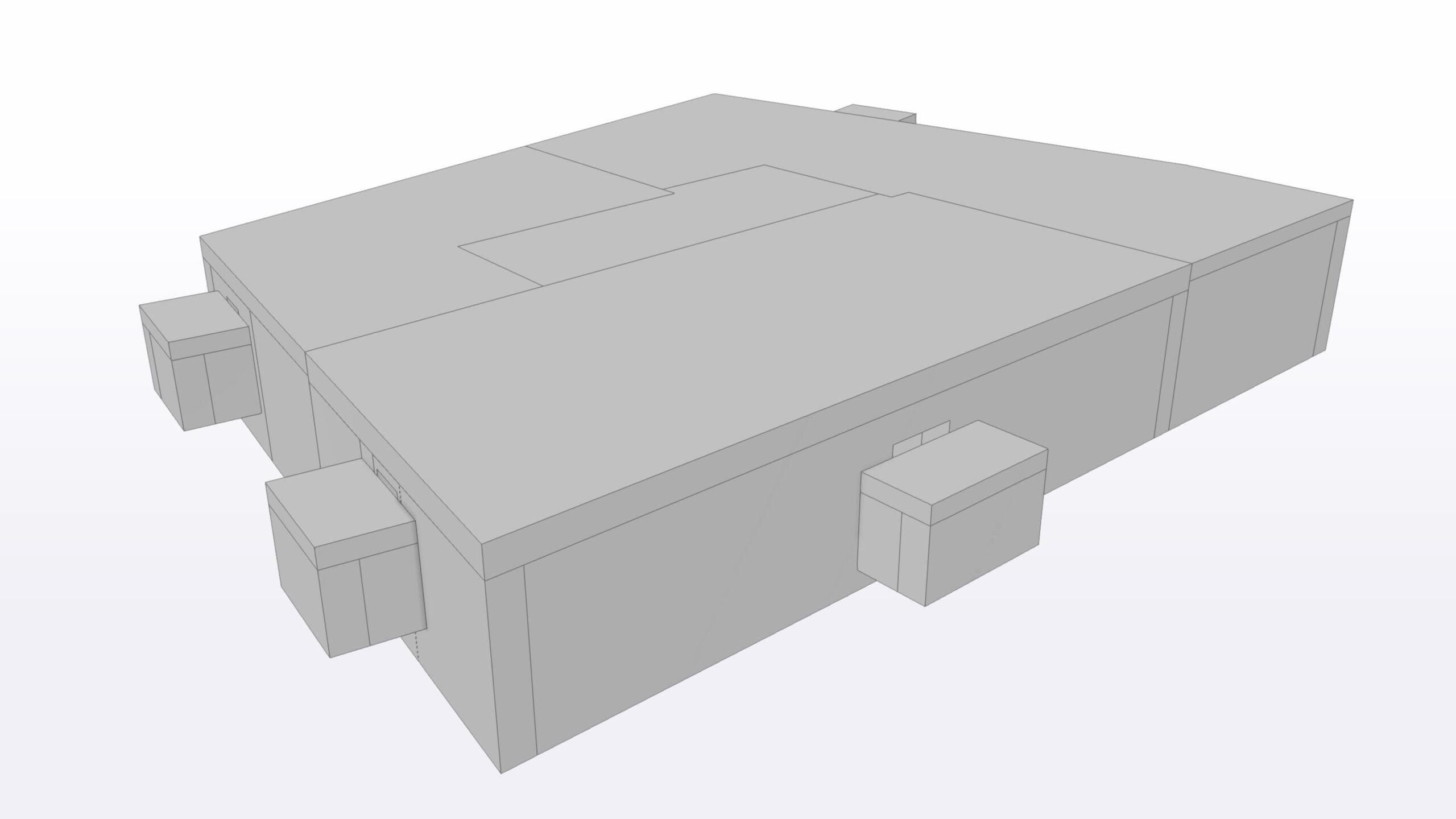 Existierendes 3D-Modell des Kellergschosses als IFC