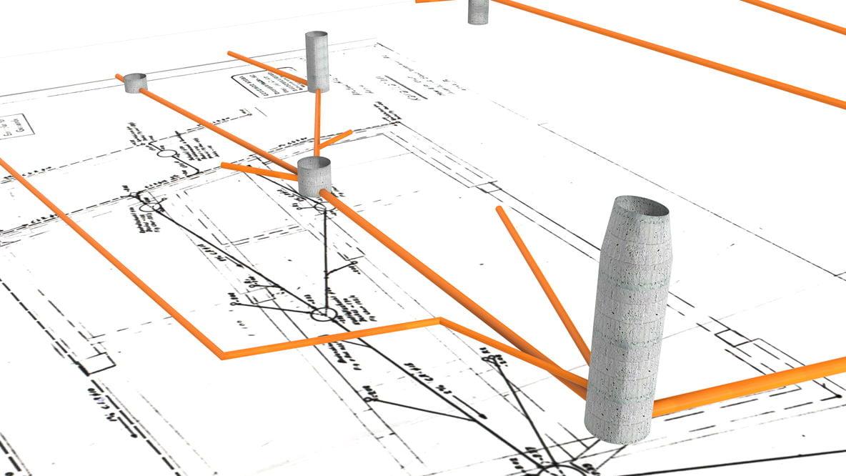 3D-Modell der Kanalisation anhand Punktwolken, Bauplänen und Schachtprotokollen
