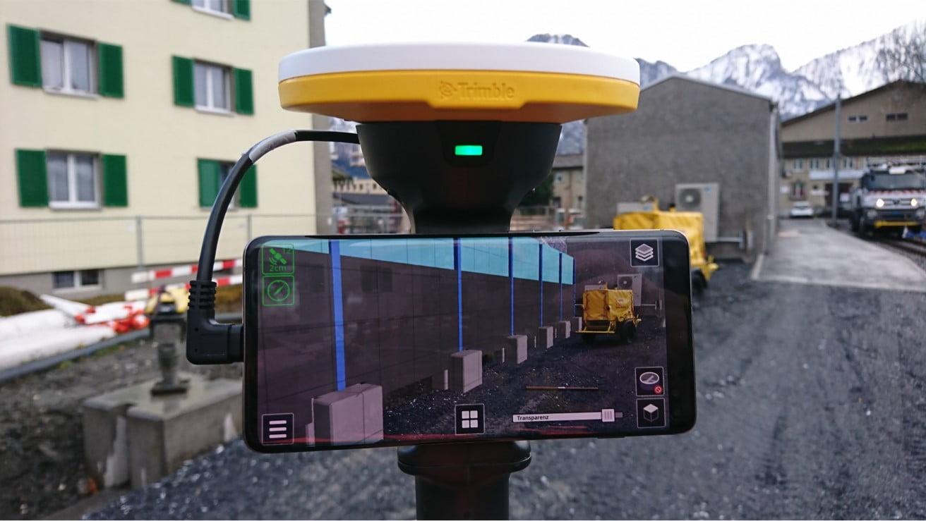 Augmented Reality (AR) auf der Baustelle mittels Trimble SiteVision